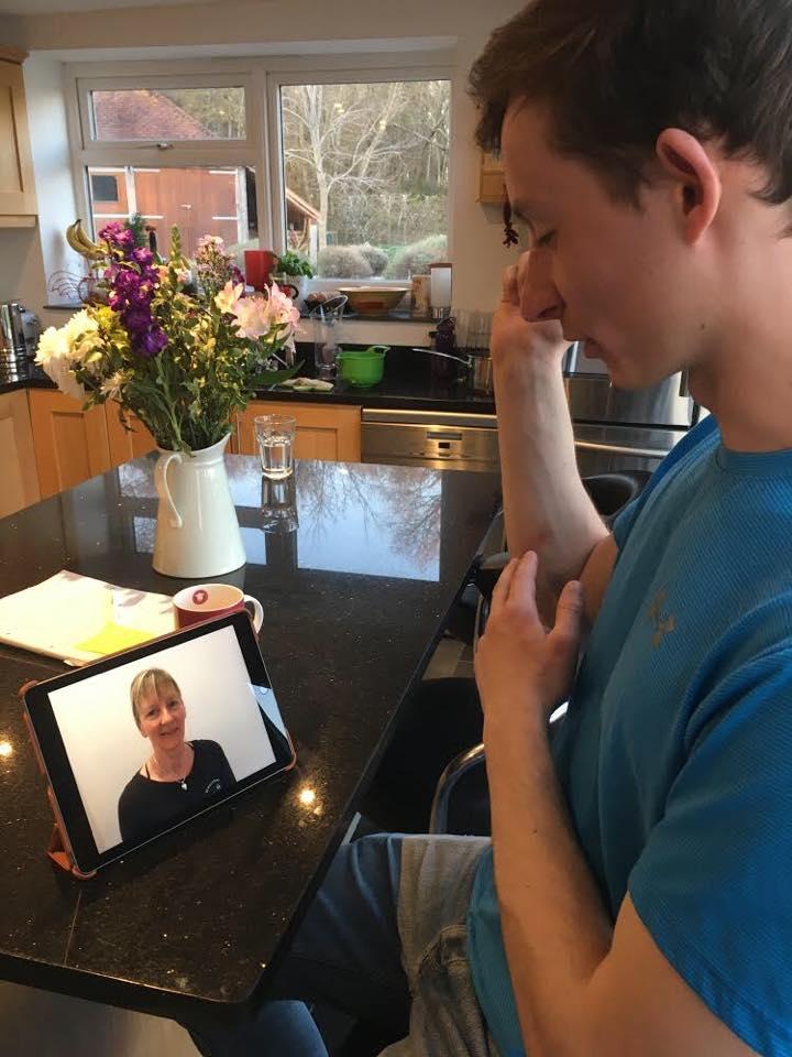 A video consultation in progress.